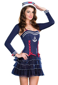 Ahoy sailor Bolero Ruffle Costume