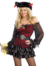 Sexy Skull Racy Lacy Pirate Costume