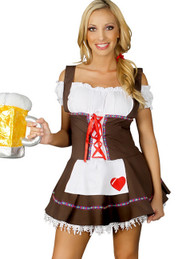 Brown Beer Maiden Costume