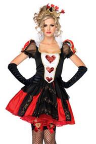 Deluxe Posh Queen of Hearts Fairytale Halloween Costume