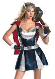 Deluxe Sexy Thor Superhero Halloween Costume