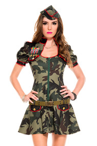 Deluxe Sexy Camouflage Army Military Romper Costume