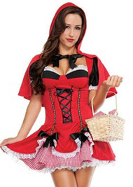 Blushing Red Riding Hood Halloween Costume