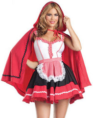 Romantic Gingham Red Riding Hood Costume