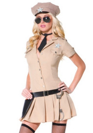 Sexy Khaki Military general Army Costume
