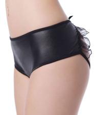 Vinyl Ruffle Open Crotch Panty