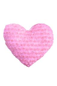Valentine Pink Rosette Heart Decorative Pillow