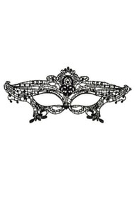 Ingrid Gothic Embroidered Lace Masquerade Eye Mask