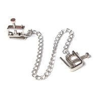 Square Metal Screw Chained Nipple Clamps