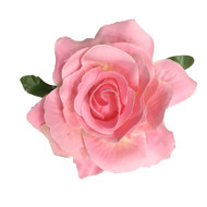 Baby Pink Rose Pin-up Hair Flower Clip Brooch -