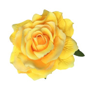 Yellow Rose Pin-up Hair Flower Clip Brooch -