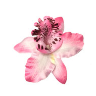 White Pink Summer Orchid Small Hair Flower Clip