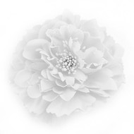 White Peony Realistic Pin-up Flower Hair Clip