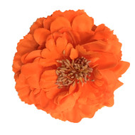 Orange Peony Realistic Pin-up Flower Hair Clip