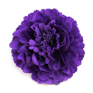 Purple Peony Realistic Pin-up Flower Hair Clip