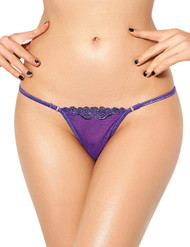 Floral Embroidered G String Thong Panty