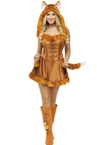 Sexy Sly Vixen Fox Faux Fur Costume