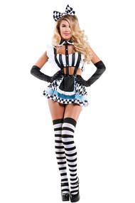 Frisky Cropped Alice in Wonderland Costume