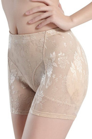 Nude Hip and Butt Booster Padded Short Girdle