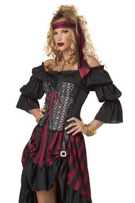 Deluxe Pirate Queen Corset Costume
