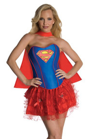 Fancy Supergirl Corset Petticoat Costume