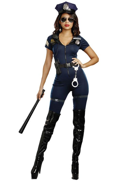 Arresting Babe Pantsuit Cop Costume