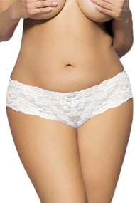 White Floral Lace Cheeky Panty PLUS