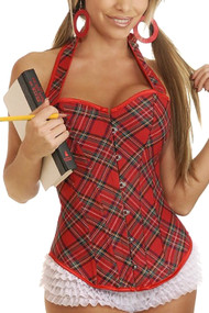 Lolita Plaid School Girl Corset