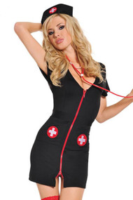 Gothic Zip Nurse Costume