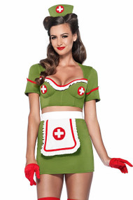Retro Pin-up WW2 Military Nurse Costume