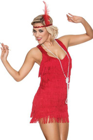Red Flapper Tassel Jenny Costume
