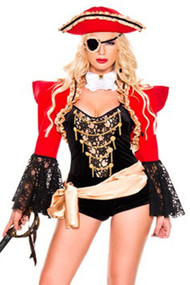 Glam Golden Pirate Costume