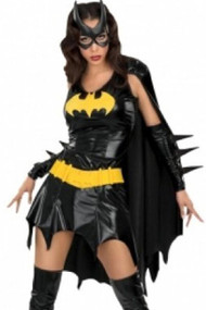 Vinyl Bat girl Seductress Costume