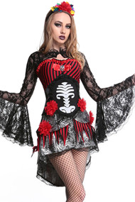 Gothic Day of the Dead Queen Corset Costume
