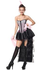 Parisian Can Can Burlesque Dancer Costume