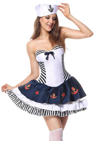 Atomic Pin-up Sailor Costume Plus XL