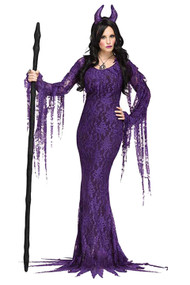 Evil Purple Queen Costume Plus XL