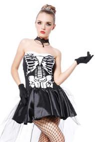 Fancy Skeleton Costume Plus XXL