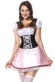Gail Oktoberfest Vinyl Beer Maid Costume Plus XXL