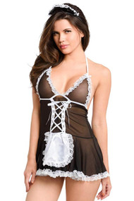 Sheer Halter French Maid