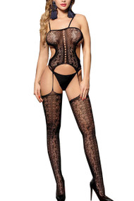Gerona Fishnet Cami Garter Body Stockings