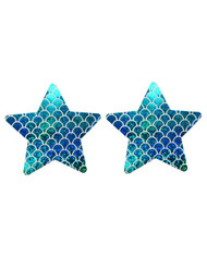 Mermaid Hologram Star Disposable Nipple Cover Pasties