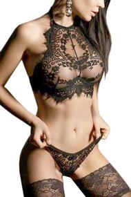Carmi Bralette Black Lace Lingerie Set