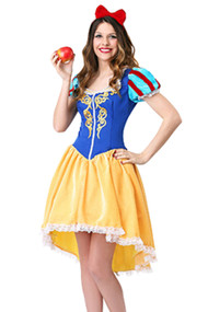 Princess Snow White Long back Costume Plus XXL