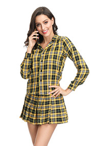 Cher Clueless School Girl Yellow Plaid Uniform