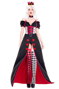 Posh Queen of Hearts Long Gown Costume