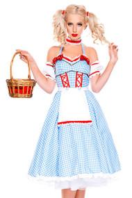 Seductive Dorothy of Oz Blue Gingham Costume