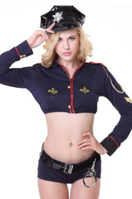 Navy Officer Cropped Boyleg Costume
