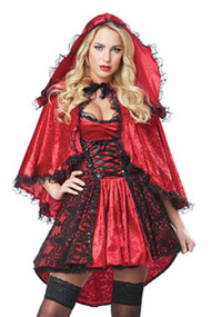 Deluxe Picnic Babe Red Riding Hood Costume