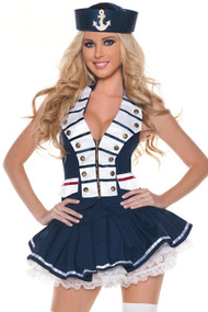Deluxe Military Sailor Navy Marching Band Leader Costume